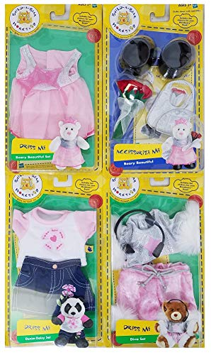Build A Bear 4-Piece Workshop Items: 3 Dress Me Outfits & 1 Accessorize -