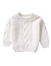 DKmagic Children Baby Girls Cotton Warm Pullovers Plush Sweater Solid Knit Clothes