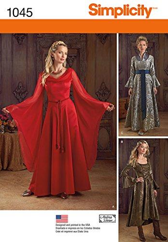 Simplicity Creative Patterns US1045RR Misses Fantasy Costumes, Size RR (14-16-18-20)