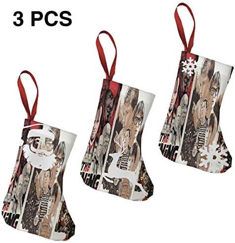 クリスマスの日の靴下 (ソックス3個)クリスマスデコレーションソックス Joshua Budich映画のポスター クリスマス、ハロウィン 家庭用、ショッピングモール用、お祝いの雰囲気を加える 人気を高める、販売、プロモーション、年次式