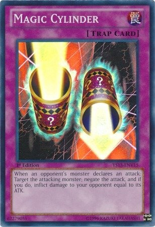 Yu-Gi-Oh! - Magic Cylinder (YS13-ENV15) - Super Starter Power-Up Pack - 1st Edition - Super Rare (1st Yu Cards Gi Oh Edition)