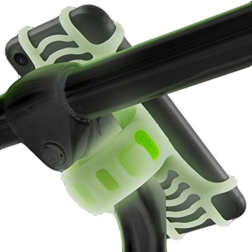 Universal Bike Stem Phone Mount, Bicycle Handlebar Cell Phone Holder for iPhone 8 7 6S Plus 5 SE Samsung Galaxy S8 S7 Note 8, 4 to 6 Inch Android Smartphone - Luminous Green (Glow in The Dark)