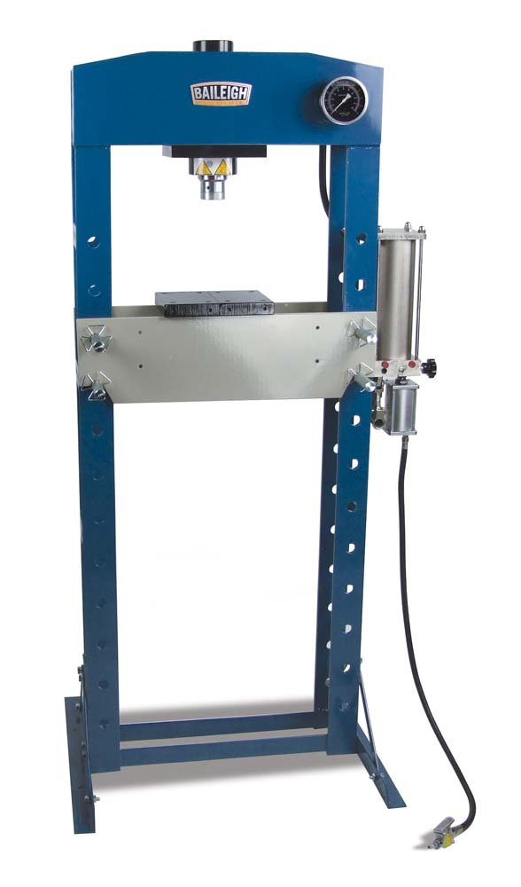 """Baileigh HSP-30A Air/Hand Operated H-Frame Shop Press, 30 Tons, 22-1/2"""" Working Width"""
