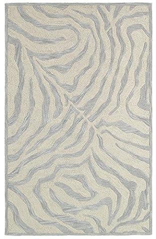Trade-Am Fashion Rug, 8-Feet x 10-Feet, Taupe Zebra - Tufted Zebra Rug