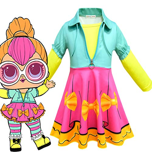(Girls Halloween Dress for L.O.L Doll Surprised.Party School Uniform Cosplay)