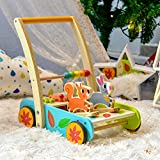 cossy Wooden Baby Learning Walker Toddler Toys for