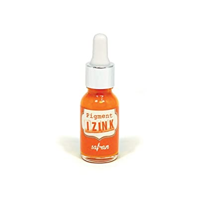 Aladine - Izink Pigment - Covering Ink All Support - DIY and Creative Leisure - Watercolorable - Water washable - Made in France - Pipette bottle 15 ml - Orange Saffron Color: Toys & Games