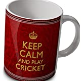Cricket mug - Keep Calm and Play Cricket by verytea
