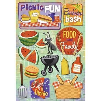 Picnic Fun Karen Foster Design Acid and Lignin Free Scrapbooking Sticker Sheet