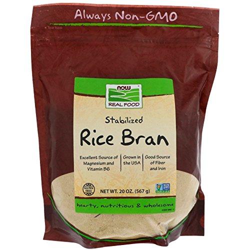 Soluble Rice Bran - NOW Foods Rice Bran - 20 oz