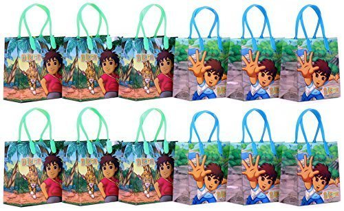 Go Diego Go ! Party Favor Goodie Gift Bag - 6