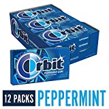 Wrigley's Orbit Gum, Peppermint, 14 count,  (Pack of 12)
