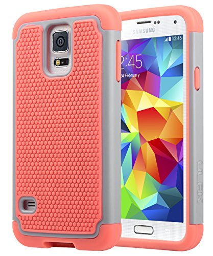 Galaxy S5 Case, ULAK Knox Armor Slim Hybrid Shockproof Silicone Rugged Hard Plastic Case Protective Cover Shell For Samsung Galaxy S5 S V I9600 (5.1