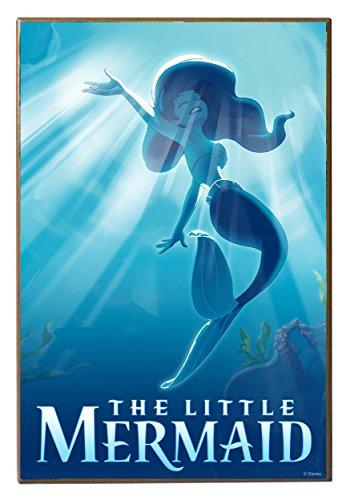 Silver-Buffalo-unisex-adult-Little-Mermaid-Swimming-13-x-19-Wood-Wall-Dcor-Standard