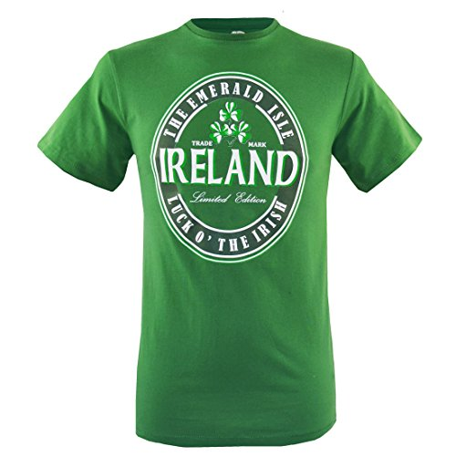 Traditional Craft Emerald Green Luck O' Irish Ireland T-Shirt (Medium)