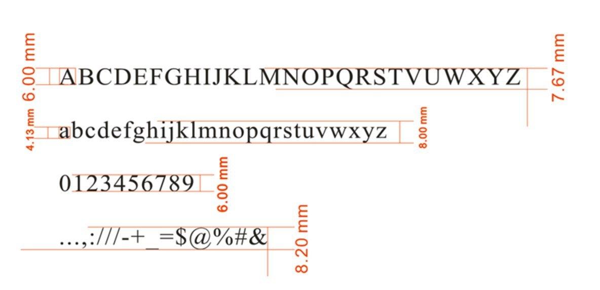 Hanchen - Moldes de latón para grabado en caliente, con estampado de letras y números flexibles y símbolos de alfabeto, para máquina de estampar (color rojo ...