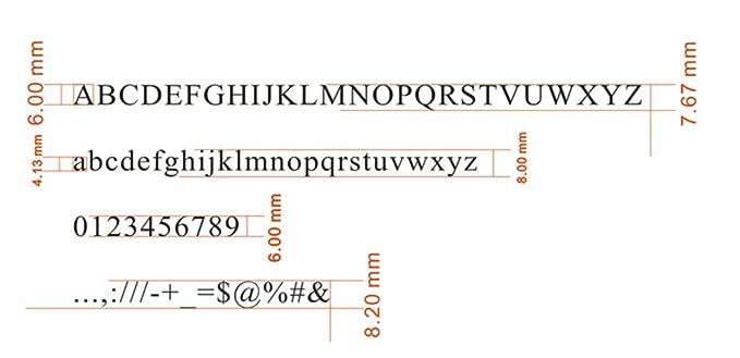 Kupfer Messing Stamping Flexibler Buchstaben Zahlen Alphabet Symbole Zeichen Formen CNC Gravur Formen f/ür Hei/ßfolienpr/ägung Maschine Zeit New Roman, T TYP