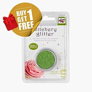 Natural comestible Apple verde tuercas leche de soja Gluten OMG azúcar libre con purpurina: Amazon.es: Hogar