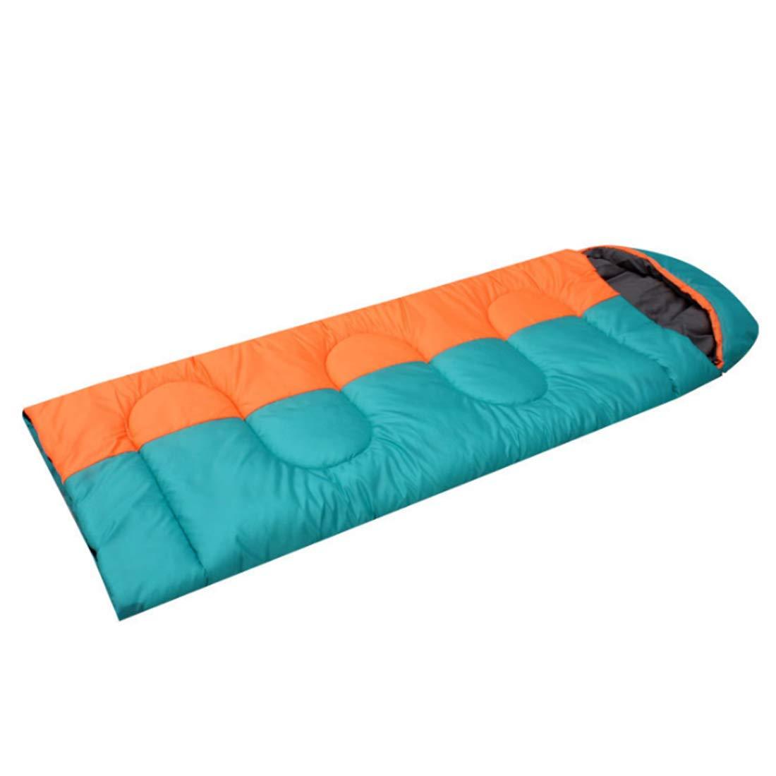 SHIZHESHOP Erwachsene Schlafsack Schlafsack Schlafsack für kalt und warm ob Camping, Wandern, Reisen (Farbe   Orange Blau) 2c056e