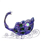 Northlight Seasonal Pre-Lit Twinkling LED Glittered Peacock Sleigh Christmas Yard Art Decoration, 40''