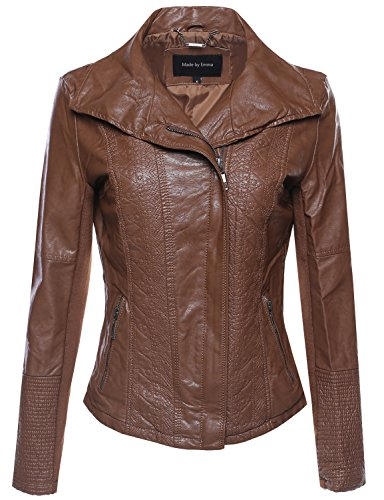 Bike Rider Moto Leather Jacket Camel S Size