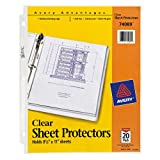 Avery Economy Weight Sheet Protectors, Top-Load, Clear, 8.5 x 11 Inches, Pack of 20 (74089)
