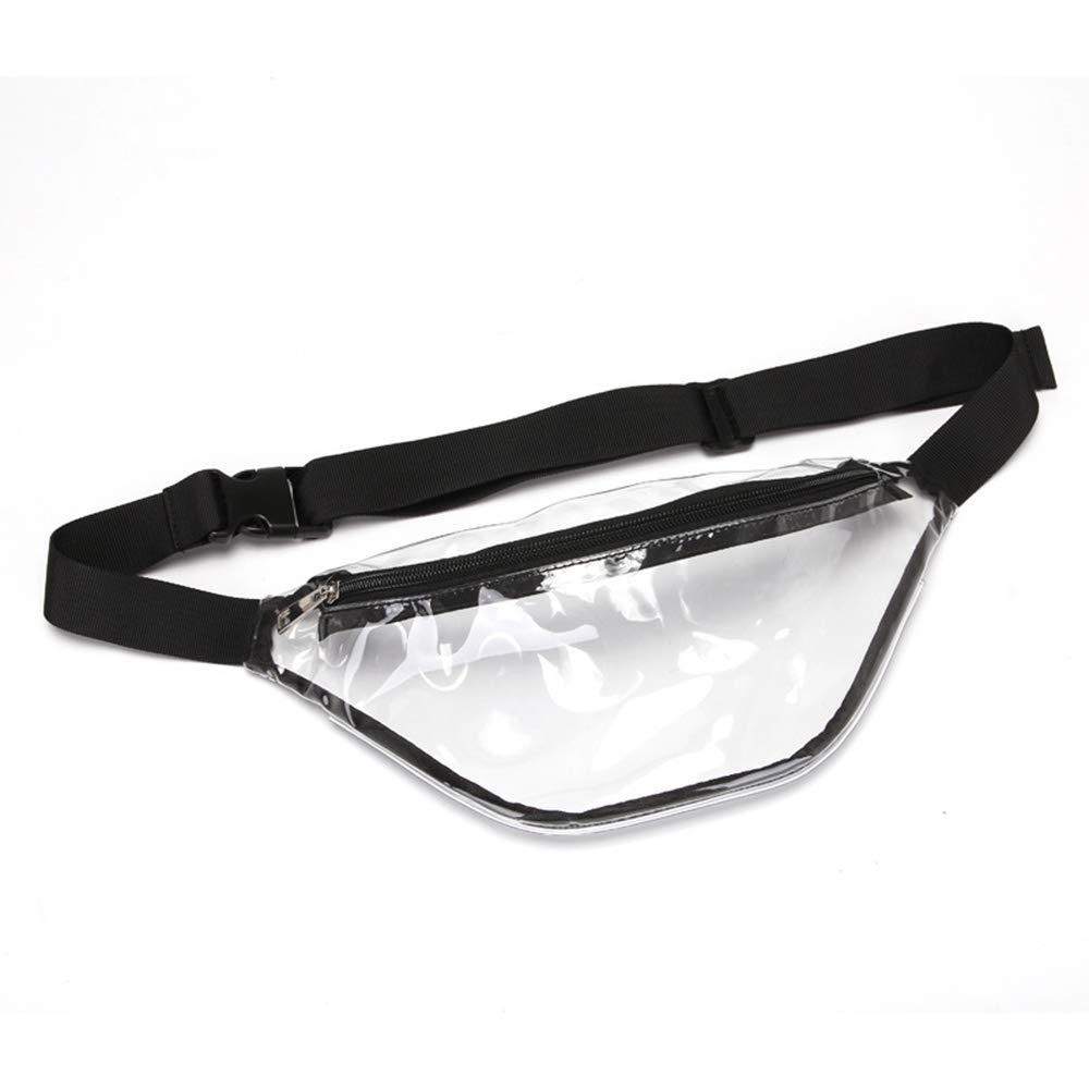 Donna PVC Marsupio Trasparente Outdoor Sport Impermeabile,Grigio