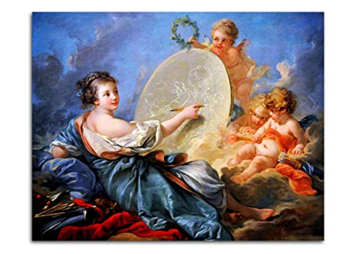 Boucher Art Painting - Sykdybz Digital Painting Francois Boucher Angles Oil Painting by Numbers On Canvas Tableau Decoration Murale Salon Modern