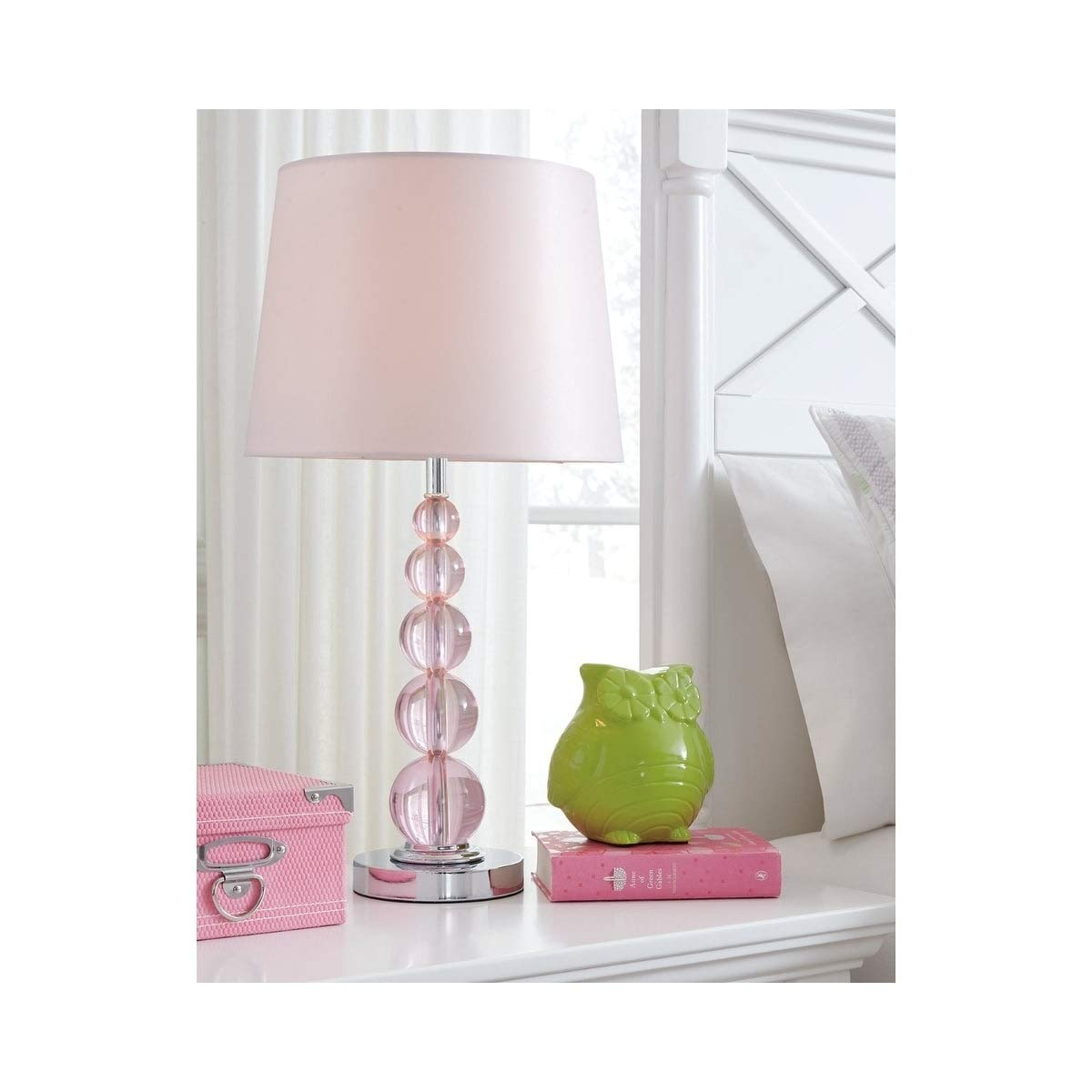 Letty Crystal Table Lamp 1 Piece Pink Contemporary Amazon Com