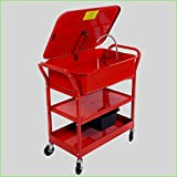 Portable Automotive Washer Cart 20 Gallon Capacity Electric Solvent Pump Cleaner With Wheels For Garage Warehouse Or Machinery - House Deals