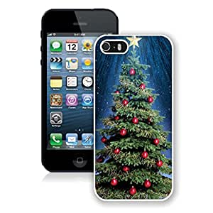 Diy Design Top Star Red Bell Christmas Tree Iphone 5s Case,Phone Case For Iphone 5,Iphone 5 White TPU Cover