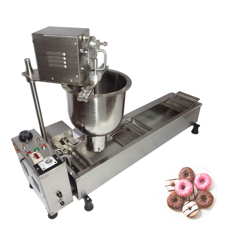 Automatic Donut Maker Commercial Donut Making Machine Doughnut Fryer Donuts Frying Collecting Molding Machine with 3 Sizes Molds by MXBAOHENG