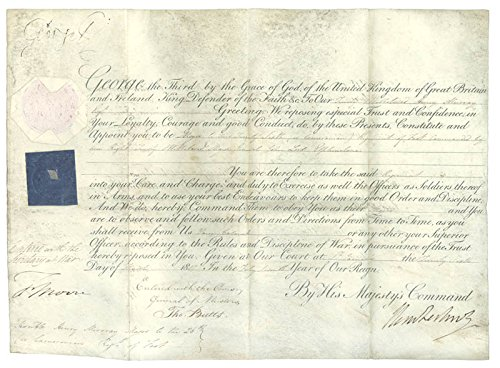 - King George III (Great Britain) - Military Appointment Signed 03/26/1807 with co-signers
