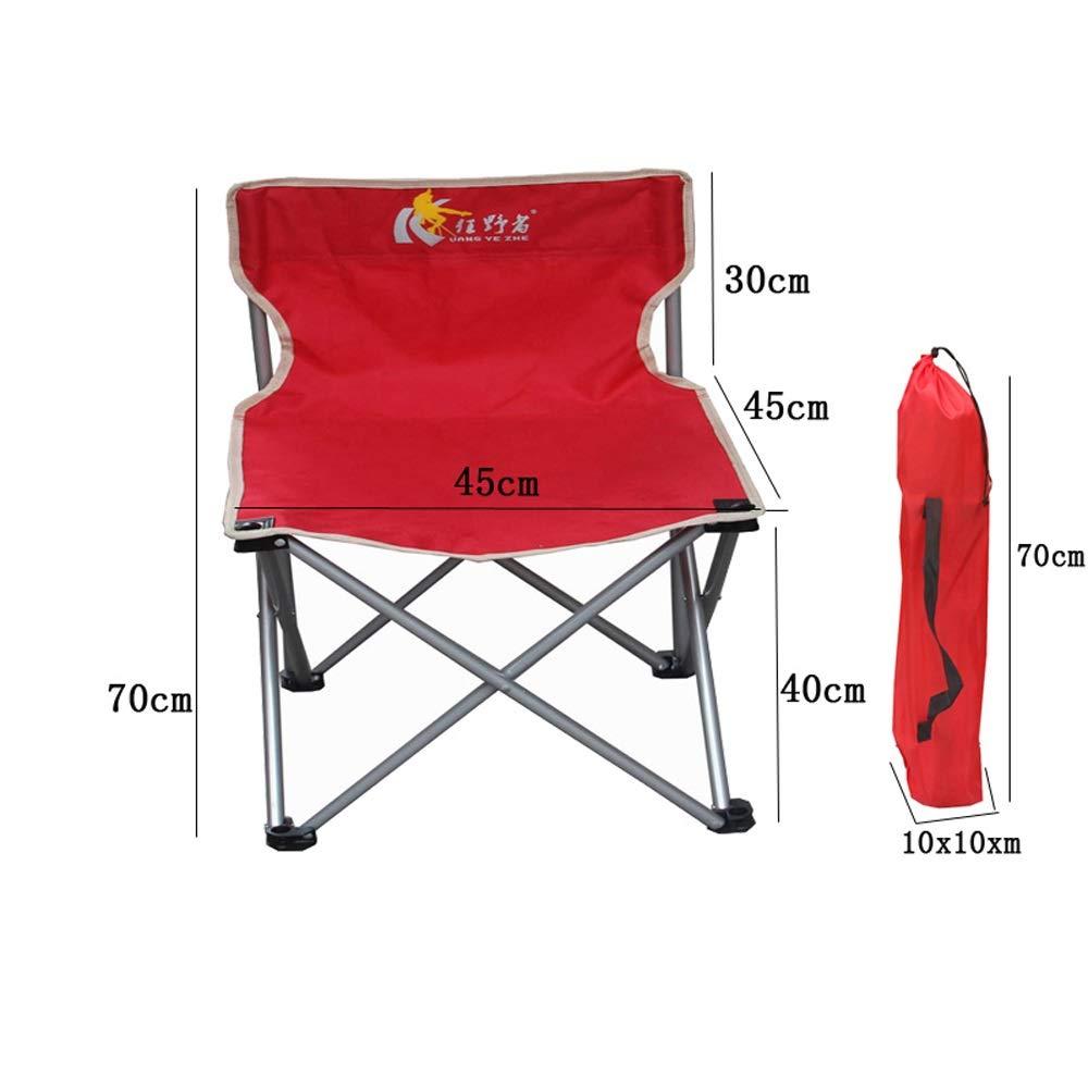 rouge L XIGE Chaise de Camping portative, Chaise Pliante extérieure, Chaise de pêche Ultra-légère avec Chaise Confortable de Loisirs de siège de Loisirs Vert Bleu Rouge