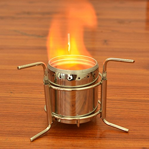 Portable Alcohol Spirit Stove Heater Burner Camping Backpacking Furnace & Stand Foldable