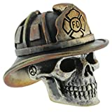 Firefighter Paracord / Lanyard Bead in .925 Sterling Silver & Bronze by GD Skulls