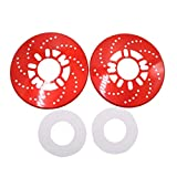 uxcell® 2Pcs Red Metal Vehcile Car Wheel Disc Brake Racing Cover Decoration