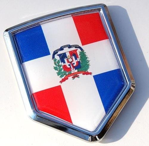 Car Chrome Decals CBSHD060 Dominican Republic Decal Flag Car Chrome Emblem Sticker
