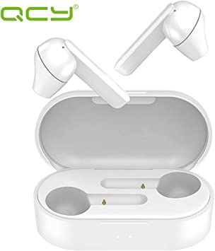Amazon Com Qcy T3 True Wireless Earbuds With Charging Case Tws 5 0 Bluetooth Headphones Compatible With Iphone Android And Other Leading Smartphones White Home Audio Theater