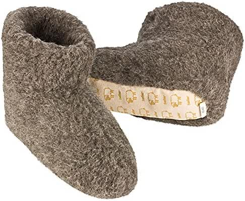 Heller Vertrieb 100% Pure Sheep Wool Slippers Cosy House Shoes Boots