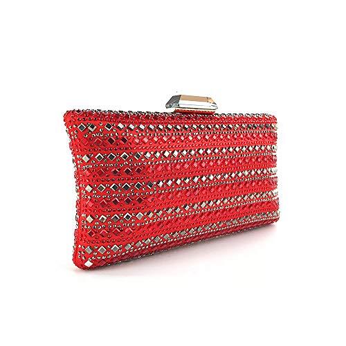 Pack Night Clutch Dinner Tote Red Dress Package Cheongsam Club Women's Luxury Satchel Diamond Shoulder Crossbody Messenger Evening Hot FZHLY Bag w8qxI1X1