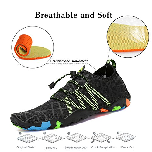 Nadada de Calcetines Shoes Descalzo la Aqua Yoga acuático Rayas para de Resaca de la Skin Playa la Saguaro Negro de 8wXq0c