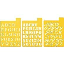 Delta Creative Stencil Mania Stencils, 7 by 10-Inch, 97SM-2150 Fonts (3-Pack)