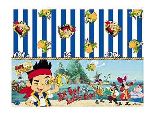 - Plastic Yo Ho Disney Jake and the Never Land Pirates Tablecloth, 1.8m x 1.2m by Disney Junior