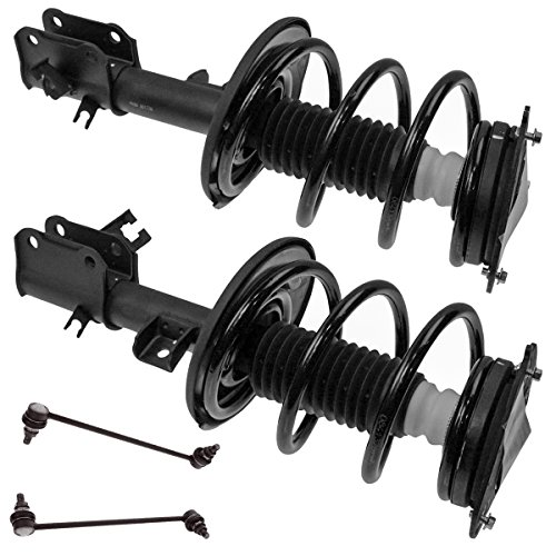 2007 Nissan Altima 4 Piece (4 Piece Suspension Kit Loaded Complete Strut Assemblies Sway Bar End Links for Nissan Altima)