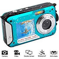 Waterproof Digital Camera 1080P Full HD Underwater Camera...