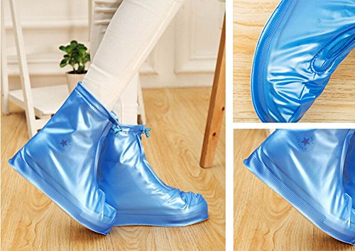 Chuva práticos Cuidados Antiderrapante Impermeáveis Sapato De Azuis Botas Galochas 7vXwq5x
