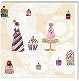 Serviette Cupcake, Silke Leffler