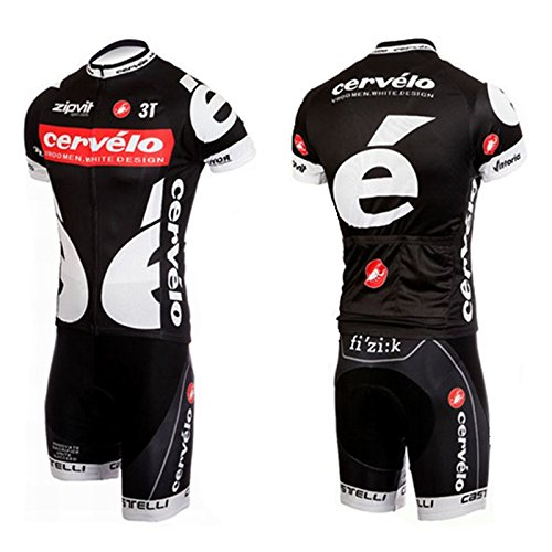 628aab73a 2016 Cervelo Cycling Jerseys Shirts Black Short Sleeves And Bib Shorts Suit  Men s Cycling Team Ciclismo