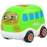 Naisicatar Push and Go tira de la fricción Vehículos Powered Coches inercial Cuidado juguete para los niños Niños (bus) regalo para el invierno